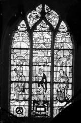 Eglise Saint-Bonnet - Vitrail : donateurs et leurs patrons