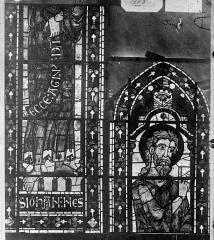 Cathédrale Saint-Etienne - Vitrail : saint Jean-Baptiste