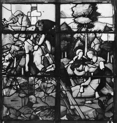 Eglise Sainte-Foy - Vitrail : Fenêtre E