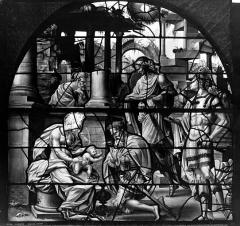 Eglise Saint-Gervais-Saint-Protais - Vitrail, Adoration des Rois Mages