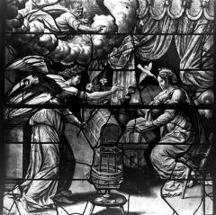 Eglise Saint-Gervais-Saint-Protais - Vitrail, Annonciation