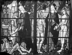 Cathédrale Saint-Etienne - Vitrail de la 1ère baie sud : La Création