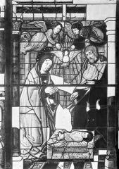 Cathédrale Saint-Etienne - Vitrail : Vie de la Vierge, fenêtre 2