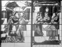 Cathédrale Saint-Etienne - Vitrail, baie 4 : Vie de la Vierge