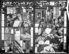 Cathédrale Saint-Etienne - Vitrail, baie 5 : Vie de la Vierge