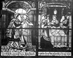 Cathédrale Saint-Etienne - Vitrail, 2ème baie sud : Vie de la Vierge