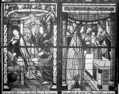 Cathédrale Saint-Etienne - Vitrail, 2e baie sud : Vie de la Vierge