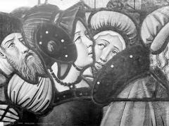 Cathédrale Saint-Etienne - Vitrail : détail de têtes