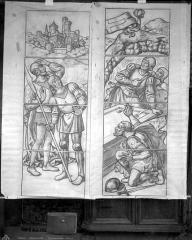 Cathédrale Saint-Etienne - Modèle pour vitrail (d'après les cartons de Rouillard), 4e baie sud : Résurrection