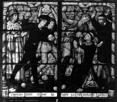 Cathédrale Saint-Etienne - Vitrail, cinquième fenêtre, Légende de Saint-Etienne