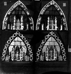 Cathédrale Saint-Etienne - Vitrail, sixième fenêtre, tympans