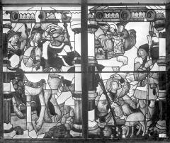 Cathédrale Saint-Etienne - Vitrail, 7e baie : Annonce aux bergers, Rois Mages