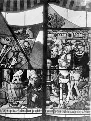 Cathédrale Saint-Etienne - Vitrail, 7e baie : Vierge et donateur, Les Rois Mages en voyage