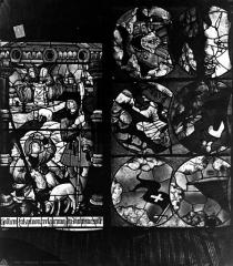 Cathédrale Saint-Etienne - Vitrail, septième fenêtre, Annonce aux bergers, tympan