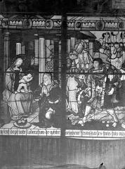 Cathédrale Saint-Etienne - Vitrail, 7e baie : Arrivée des Rois Mages, Adoration
