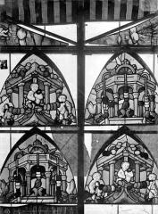 Cathédrale Saint-Etienne - Vitrail, 7e baie : quatre tympans d'ogives