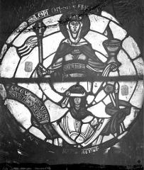 Cathédrale Saint-Etienne - Vitrail : La Loi ancienne et la Loi nouvelle