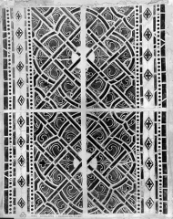 Cathédrale Saint-Etienne - Vitrail du bas-côté nord : grisaille