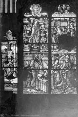 Eglise Saint-Alpin - Vitrail : Vie de la Vierge