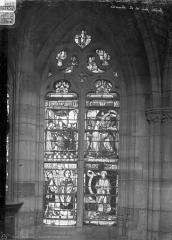 Eglise Saint-Alpin - Vitrail : saint Alpin et Charlemagne