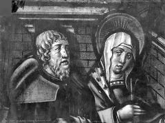 Eglise Saint-Alpin - Vitrail : Vierge (détail)