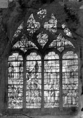 Eglise Saint-Alpin - Vitrail : saint Alpin et Attila