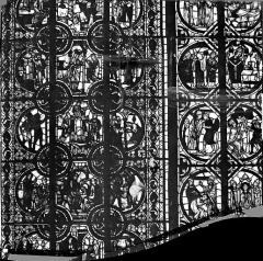 Cathédrale Saint-Julien - Vitrail : saint Martin et le miracle de Théophile