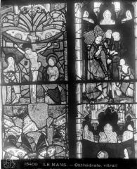 Cathédrale Saint-Julien - Vitrail : fragments