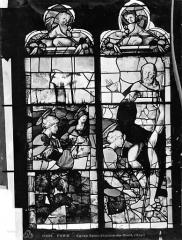 Eglise Saint-Etienne-du-Mont - Vitrail : Apparition du Christ