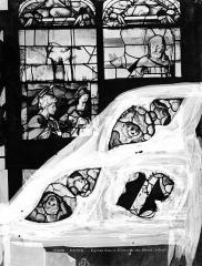 Eglise Saint-Etienne-du-Mont - Vitrail : Vie du Christ (tympan)