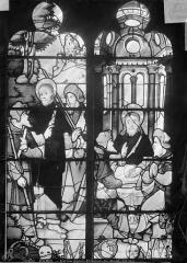 Eglise Saint-Etienne-du-Mont - Vitrail : Les Pèlerins d'Emmaüs