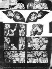 Eglise Saint-Etienne-du-Mont - Vitrail : tympans
