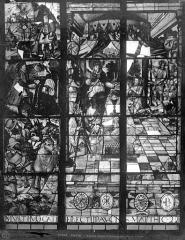 Eglise Saint-Etienne-du-Mont - Vitrail du bas-côté sud : Beaucoup sont appelés peu sont élus