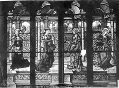 Eglise Saint-Martin - Vitrail, baie 2 (partie centrale) : Saint Jean, sainte Marie-Madeleine, sainte Marie-Cleophe et sainte Marthe