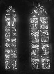 Eglise Saint-Mathurin - Vitrail : deux baies