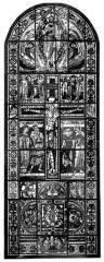 Cathédrale Saint-Pierre - Vitrail, baie B : crucifixion