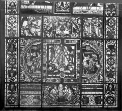 Cathédrale Saint-Pierre - Vitrail, baie B : scènes légendaires