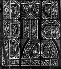 Cathédrale Saint-Pierre - Vitrail, fenêtre B, scènes légendaires, fragments