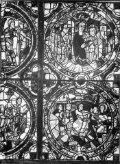 Cathédrale Saint-Pierre - Vitrail, baie A : médaillons
