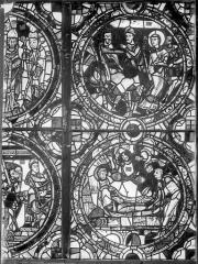 Cathédrale Saint-Pierre - Vitrail, baie A : fragments d'ornementation