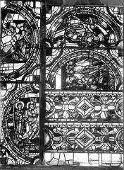 Cathédrale Saint-Pierre - Vitrail, baie C : médaillons ornement