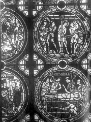 Cathédrale Saint-Pierre - Vitrail, fenêtre A, figure d'ornementation