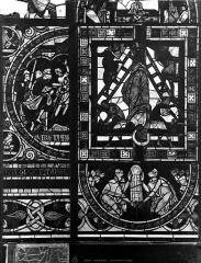 Cathédrale Saint-Pierre - Vitrail, fenêtre B, figure ornementation