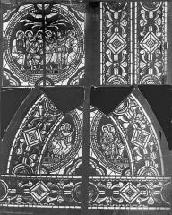 Cathédrale Saint-Pierre - Vitrail, baie C : médaillon