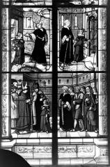Eglise Saint-Pierre - Vitrail, fenêtre de sainte Geneviève