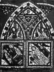 Eglise Saint-Pierre - Vitrail : sainte Marguerite et le Christ