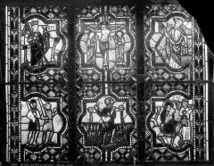 Eglise Saint-Pierre - Vitrail : scènes de la vie du Christ, Les Deux Lois