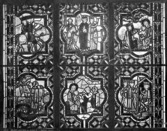 Eglise Saint-Pierre - Vitrail : scènes de la vie du Christ