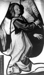 Eglise Saint-Martin - Vitrail, baie (détail) : Ange
