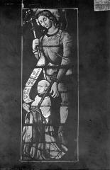 Eglise Saint-Martin - Vitrail : saint et donateur